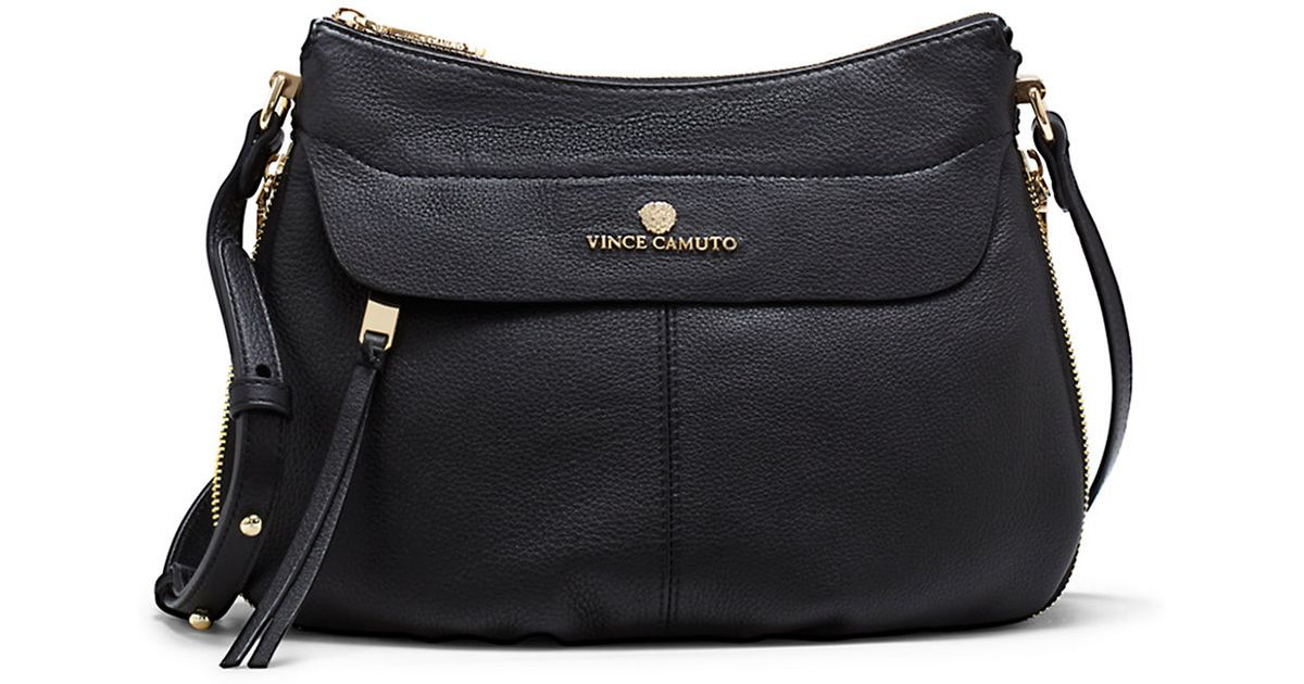 Vince Camuto Dean Leather Crossbody Bag In Black Lyst