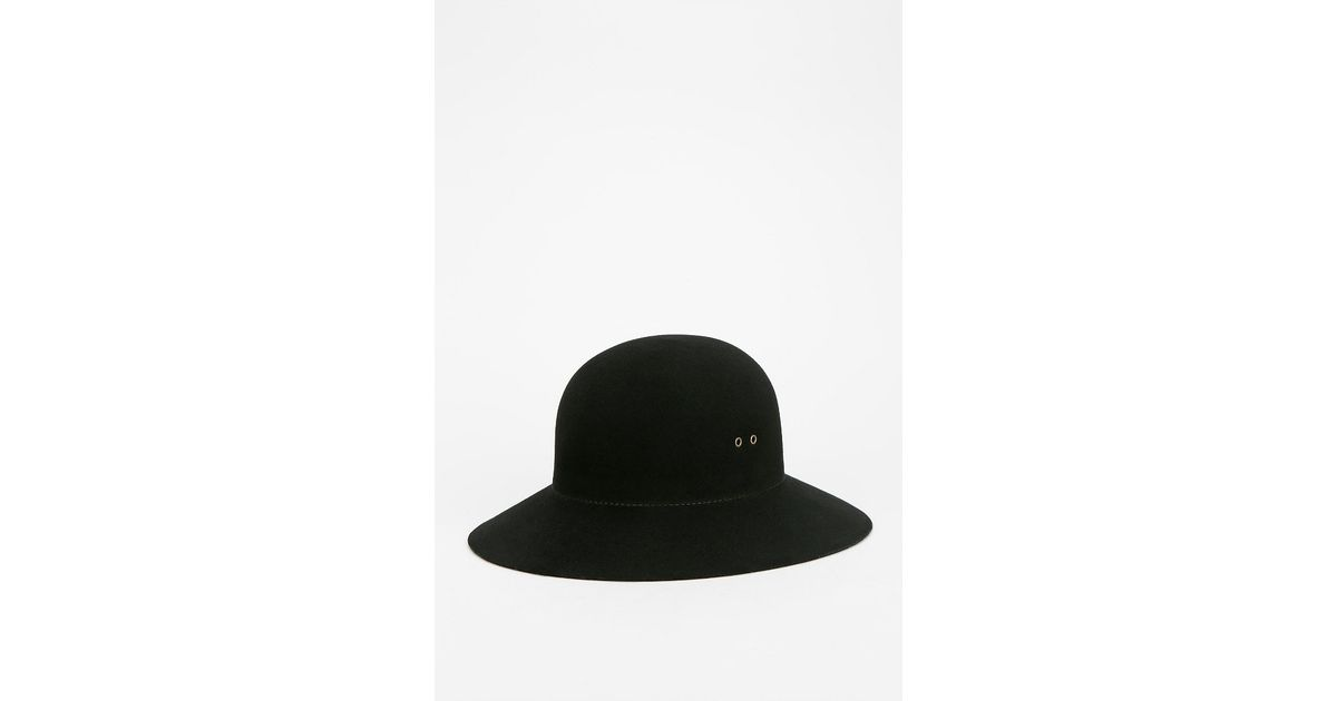 4d505271a18a0 Urban Outfitters Short-Brim Floppy Hat in Black - Lyst