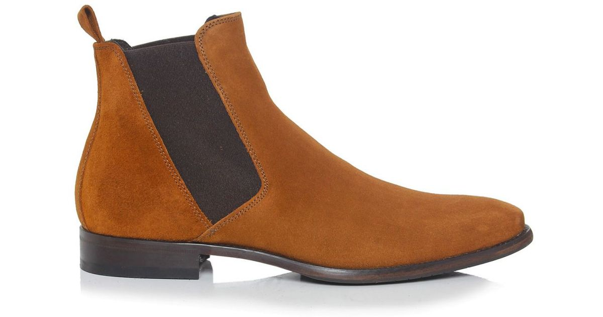 joss suede chelsea boots in brown for lyst