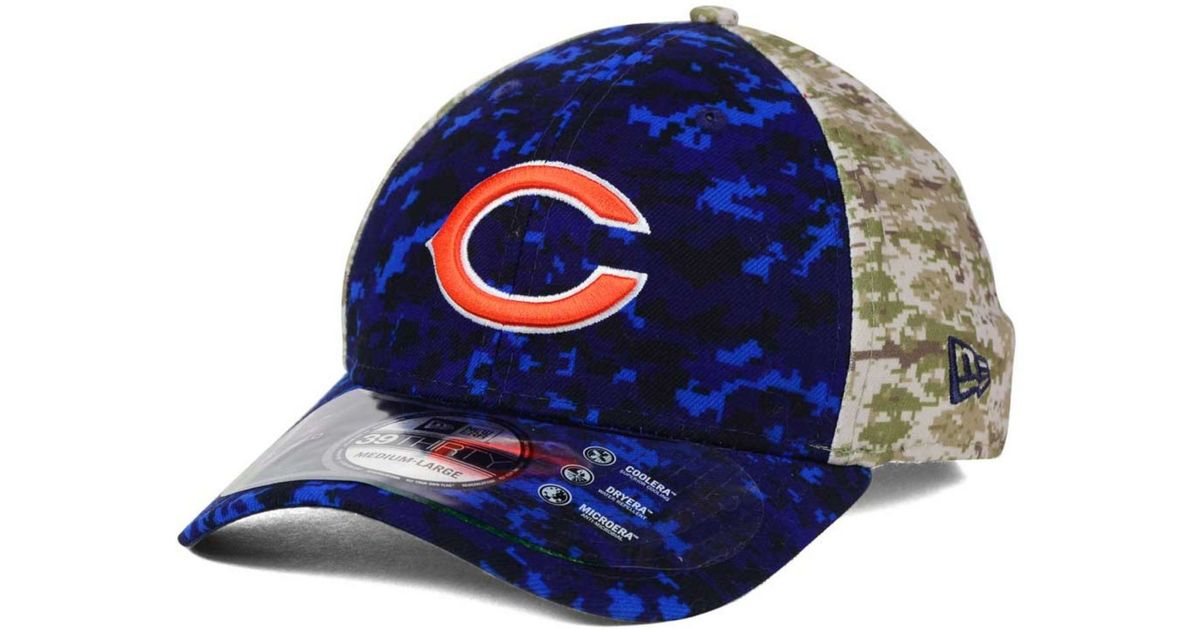 fec9b5c9 KTZ - Blue Chicago Bears Salute To Service 39thirty Cap for Men - Lyst