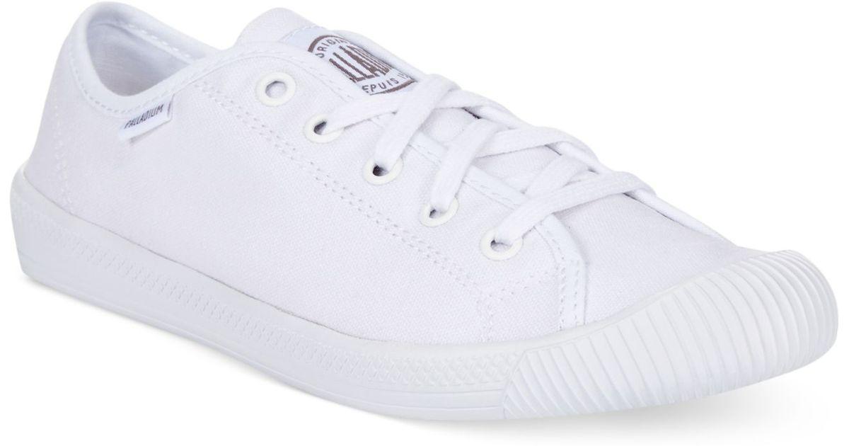 d737b0d512 Palladium Women's Flex Lace Sneakers in White - Lyst