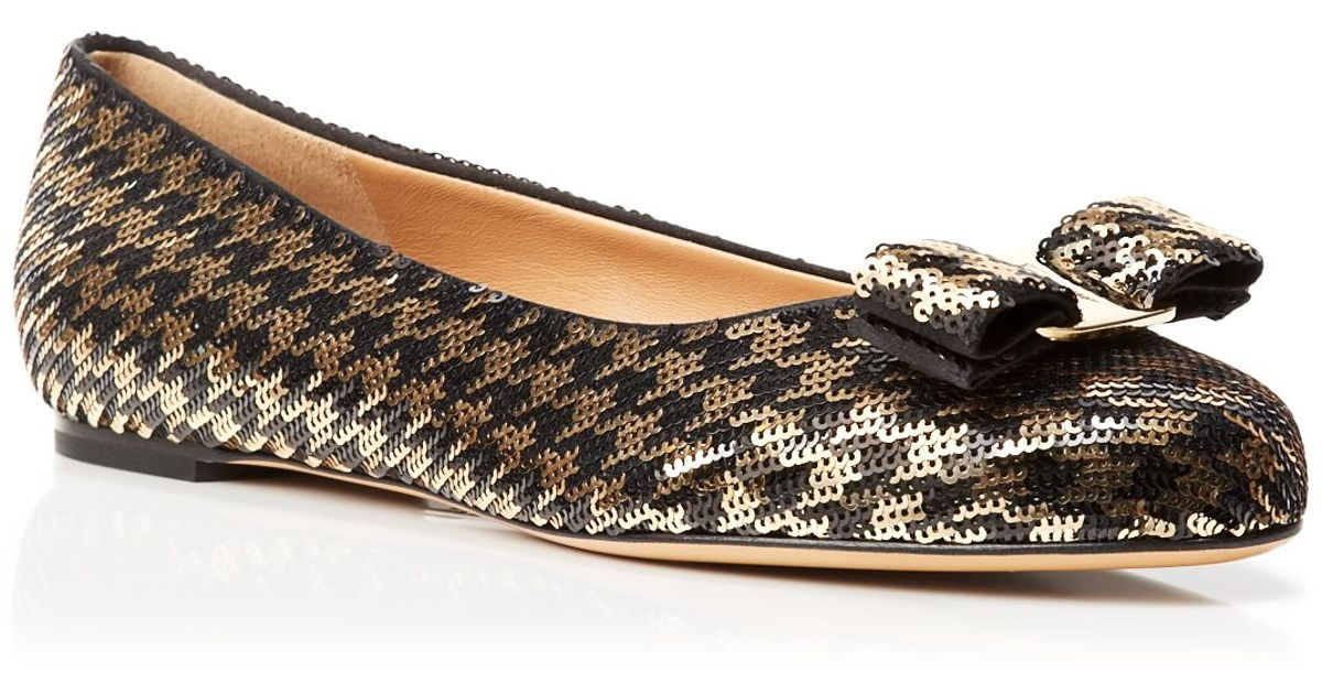 Salvatore Ferragamo Varina Sequined Flats pay with paypal sale online free shipping outlet locations mCUqUXu