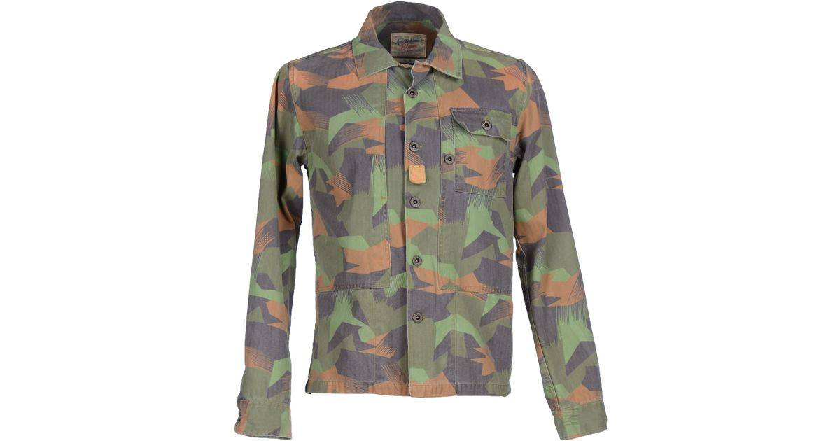 scotch soda jacket in green for men military green lyst. Black Bedroom Furniture Sets. Home Design Ideas