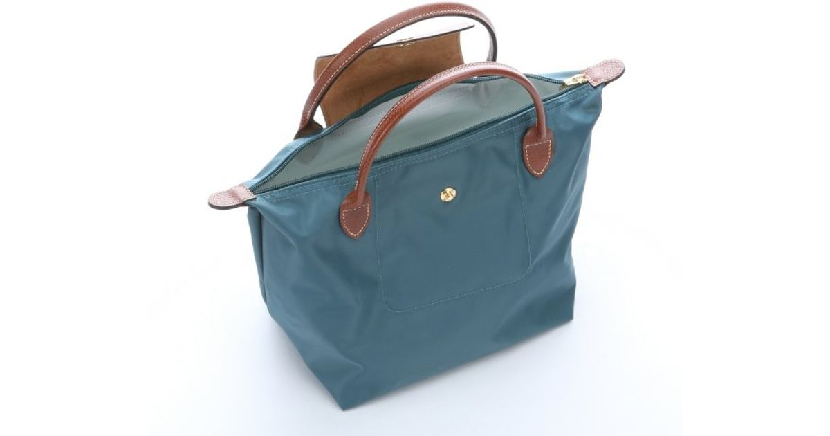 6377d231111d Longchamp Menthe Nylon  Le Pliage  Small Tote Bag in Blue - Lyst