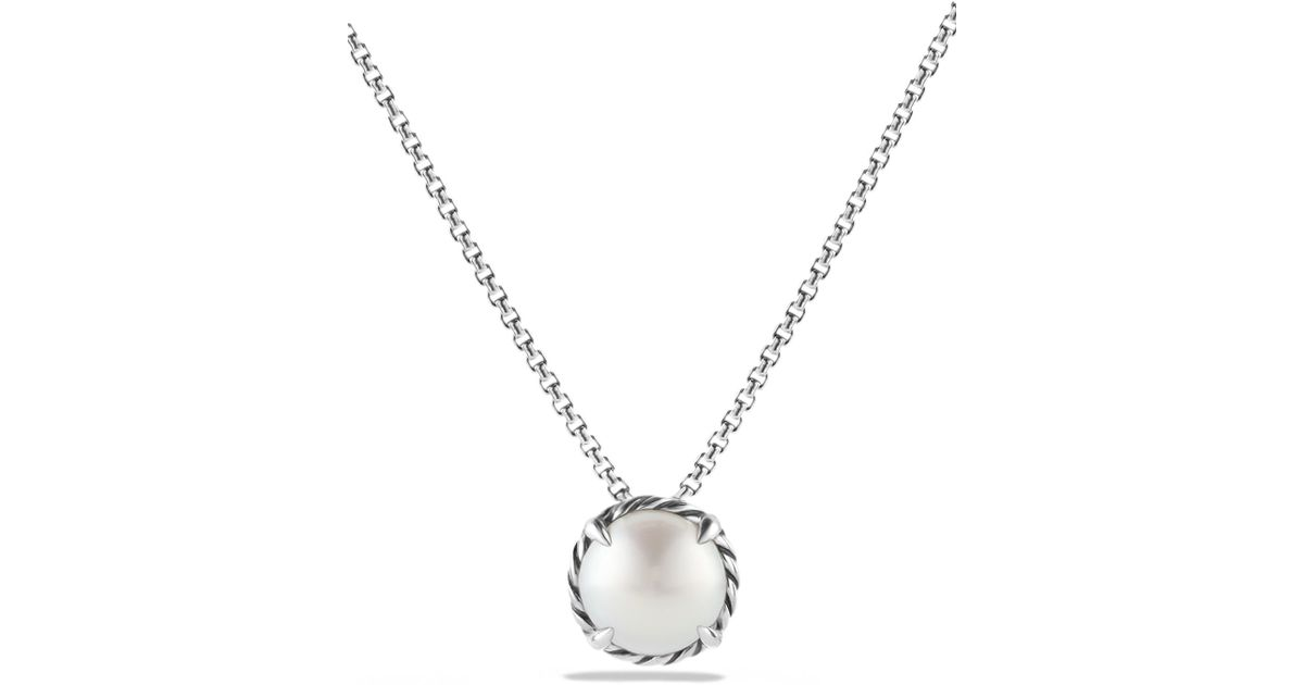 david yurman ch226telaine pendant necklace with pearl in