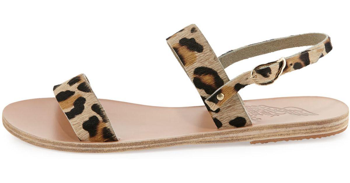 Ancient Greek Sandals Clio Leopard Print Sandals Lyst