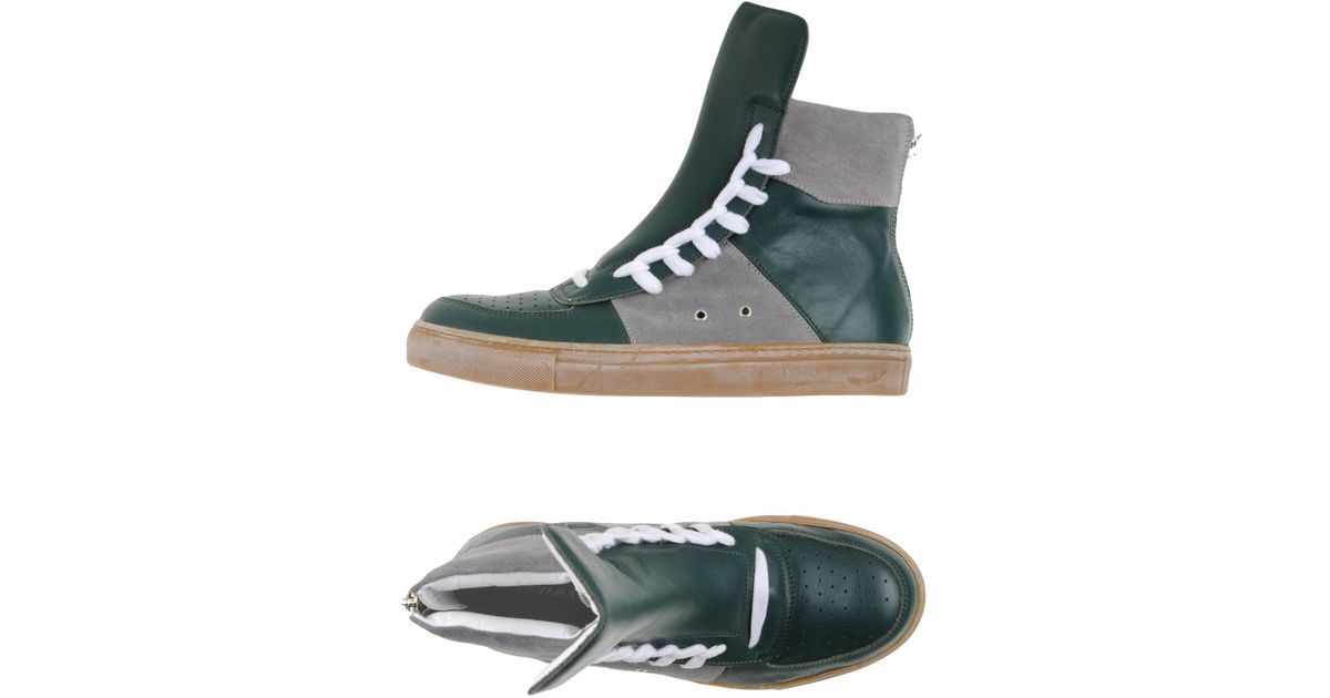 0685565de10538 Lyst - Kris Van Assche High-tops   Trainers in Green for Men