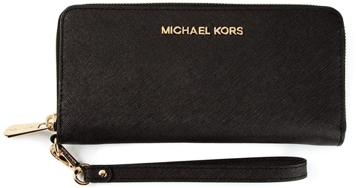 Michael Michael Kors Jet Set Travel Tech Wallet In Black