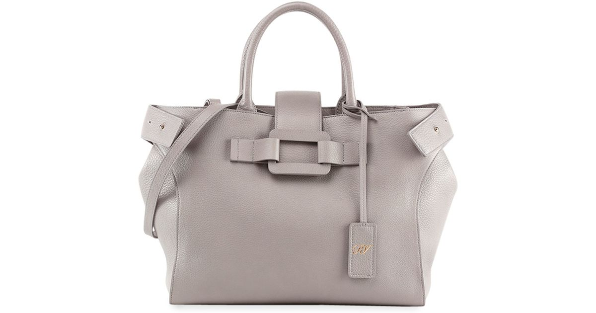 4ac323a2df07 Lyst - Roger Vivier Pilgrim De Jour Medium Shopping Tote Bag in Gray