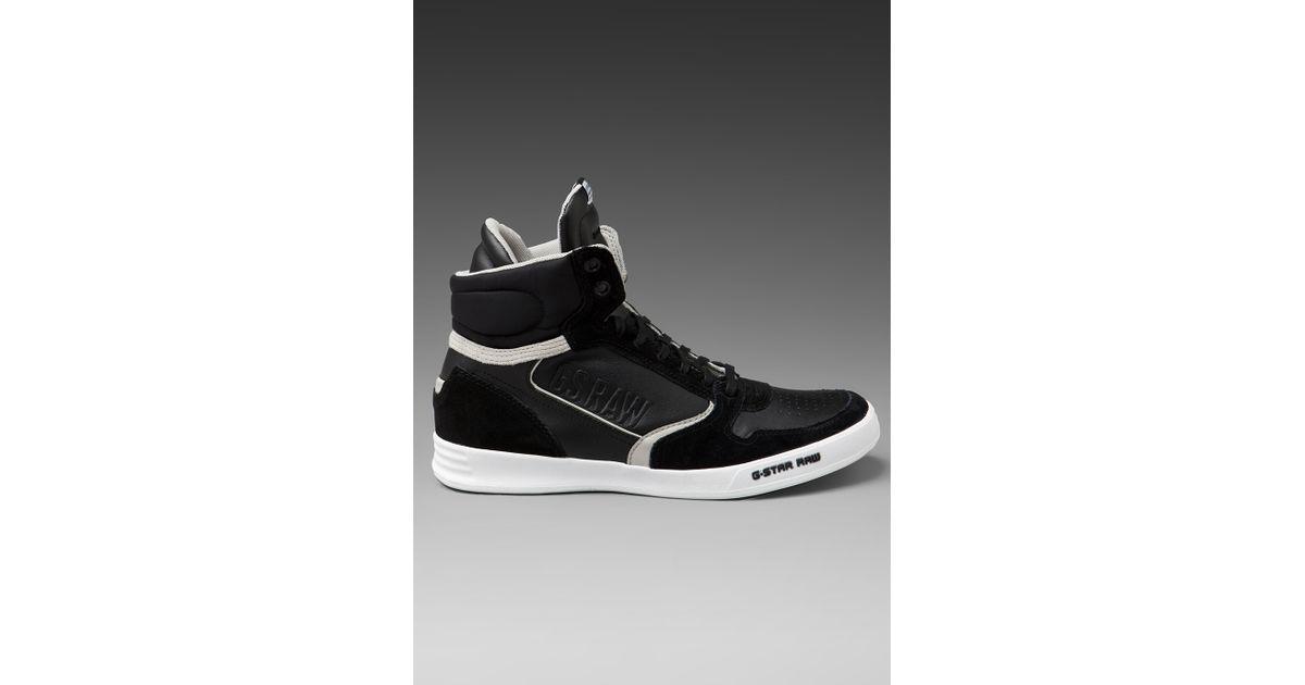 a48645c73446 Lyst - G-Star RAW Yard Pyro Hi Top Sneaker in Black for Men