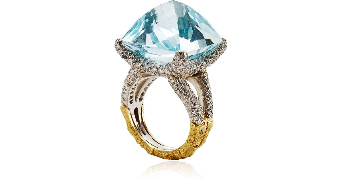 ring frontview black aquamarine alon gold carat shina products silver sapphire