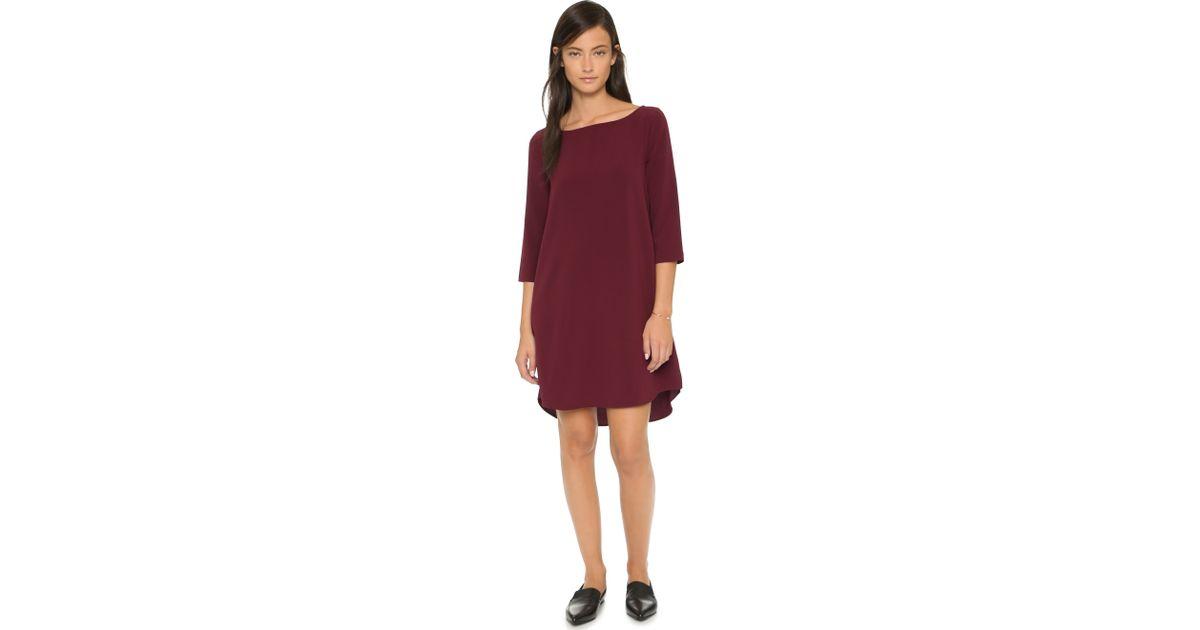 Lyst - BB Dakota Devin Shift Dress - Wine in Red ac2822b75