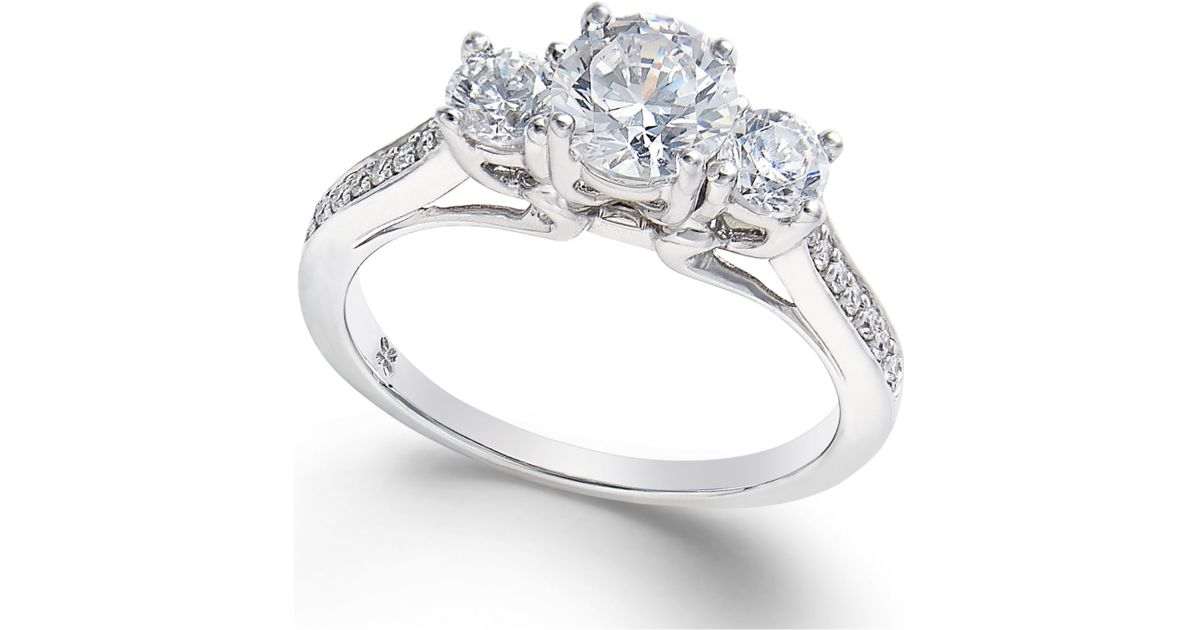 macy s 3 engagement ring 1 1 10 ct t w
