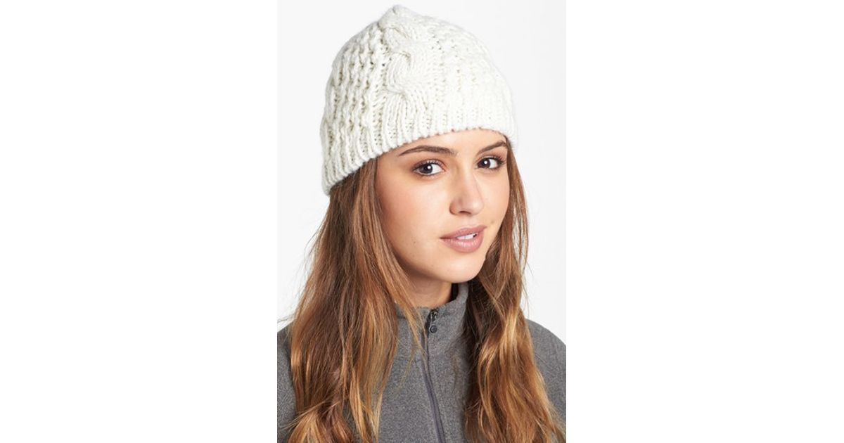 The north face  minna  Cable Knit Beanie in White  7642836f92