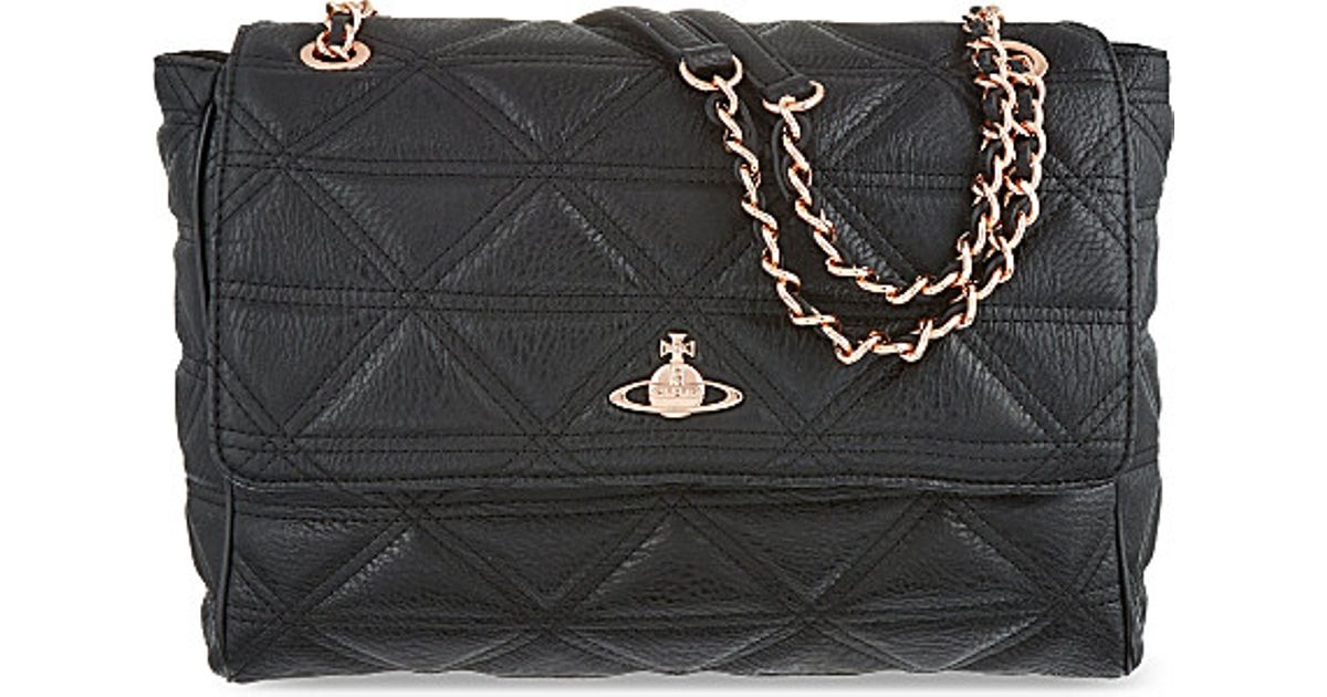 43e97e89001 Vivienne Westwood Large Quilted Chain Bag, Women's, Black in Black - Lyst