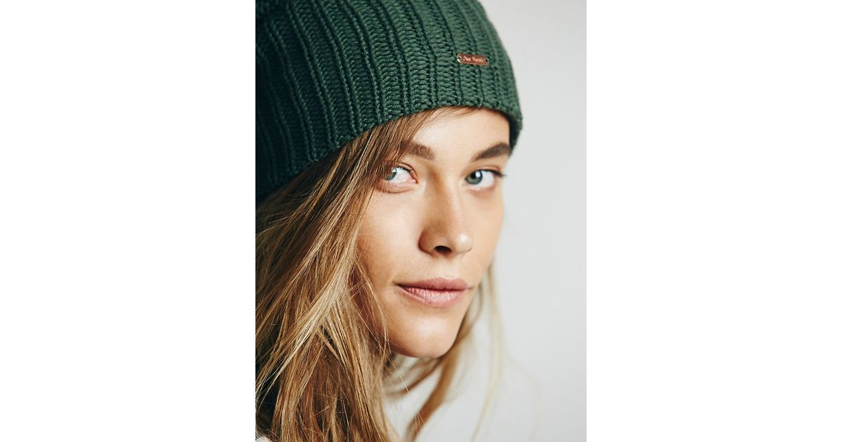 0a637ad693a Lyst - Free People Womens Capsule Slouchy Beanie in Green
