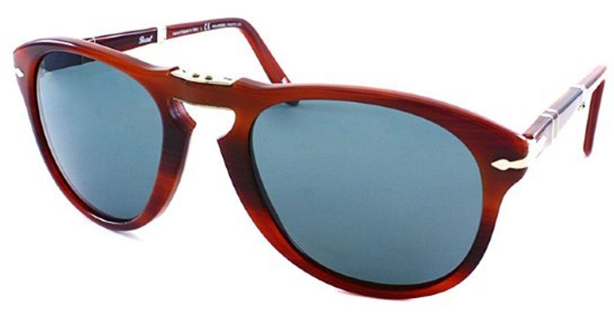 f0bbc5e7de7 Persol Po 714 Steve Mcqueen 957 4n Rectangle Foldable Sunglasses-54mm in  Brown - Lyst