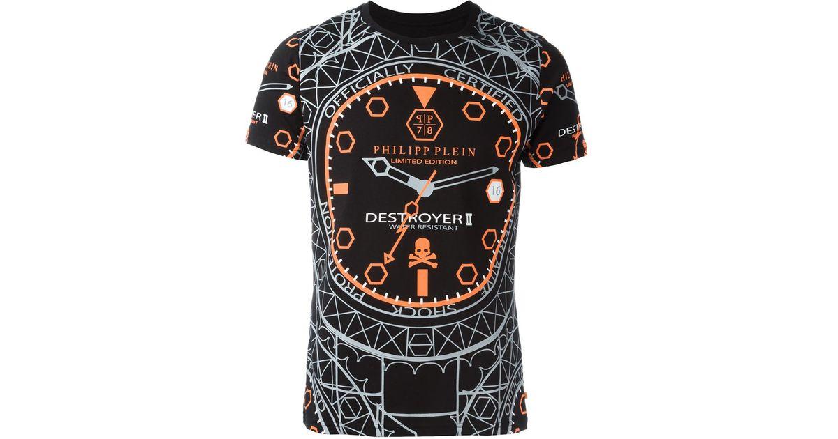 061092f3ac Lyst - Philipp Plein  destroyer  T-shirt in Black for Men