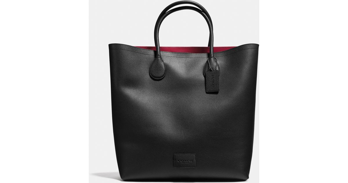 cf90008c0f02 COACH Unlined Mercer Tote In Pebble Leather in Black for Men - Lyst