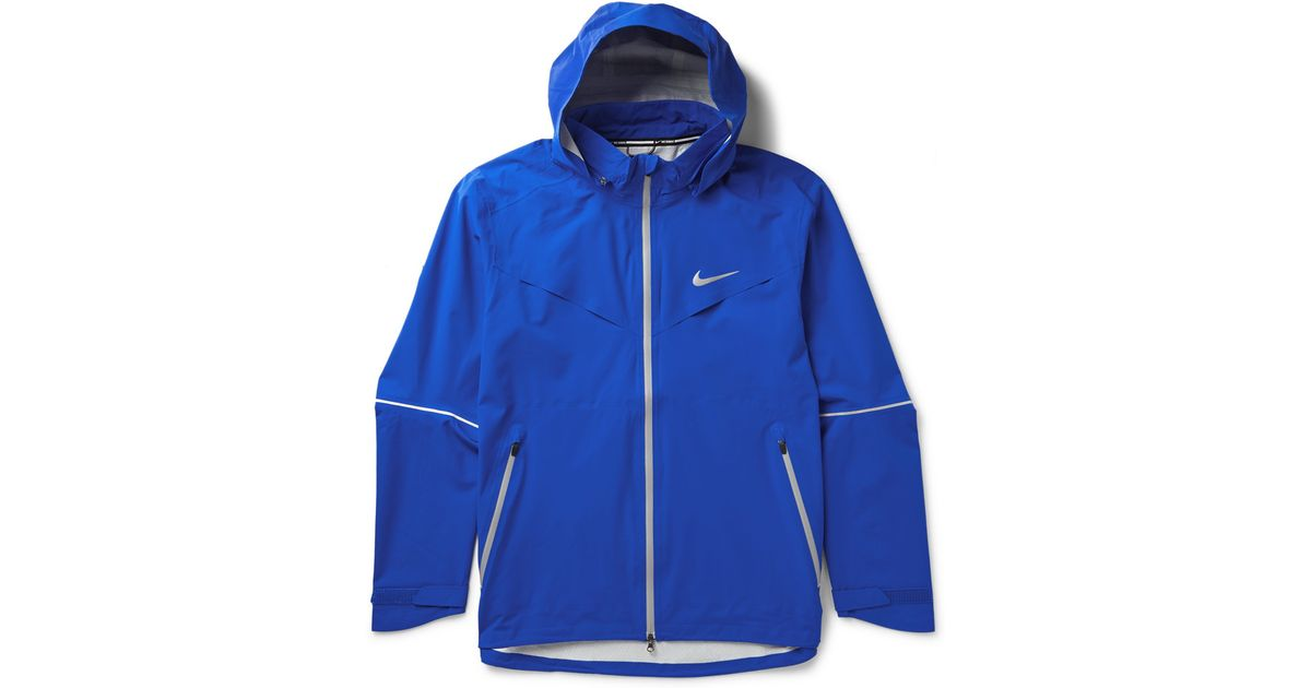 a717b03ef49d Lyst - Nike Rain Runner Hooded Shell Running Jacket in Blue for Men