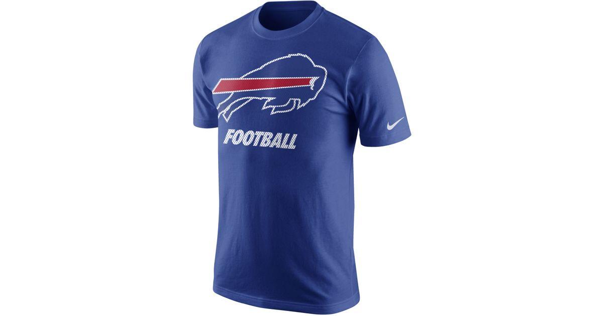 nike s buffalo bills facility t shirt in blue for