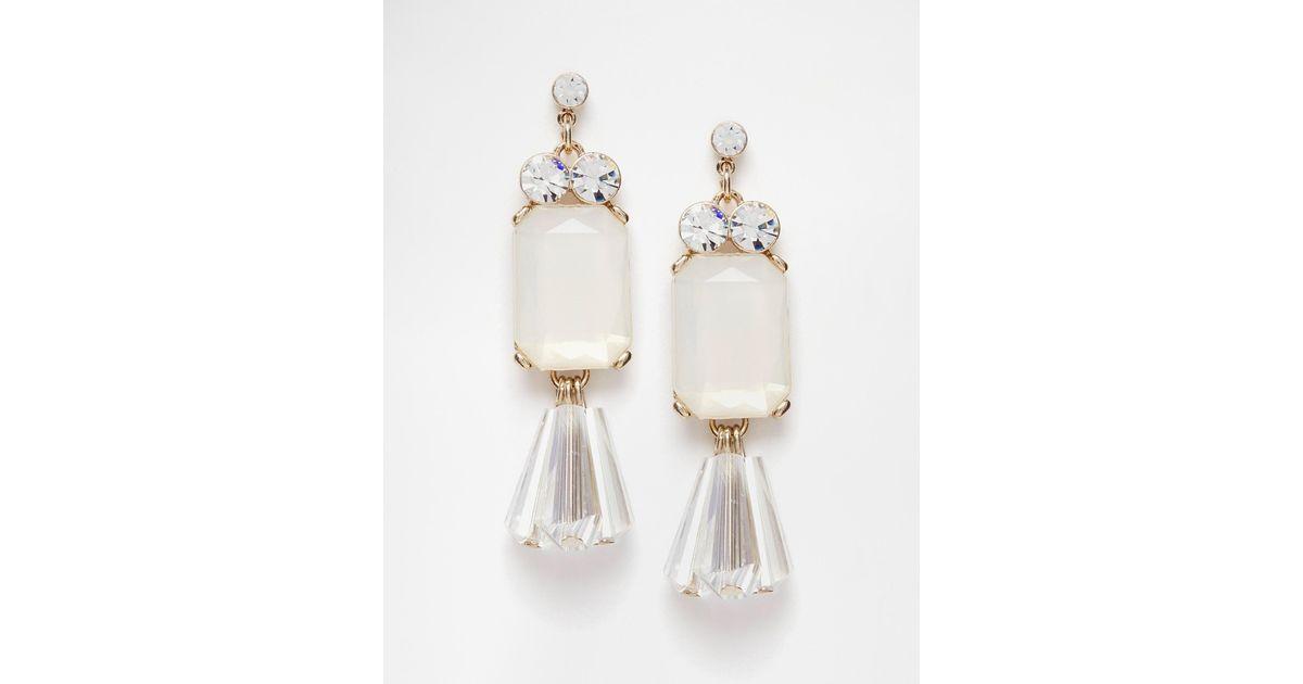 Lipsy Acrylic Bead Drop Earrings in Metallic   Lyst