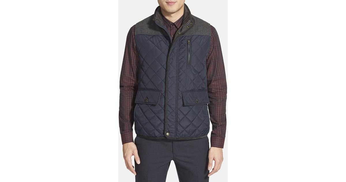 Vince Camuto Quilted Vest In Blue For Men Lyst