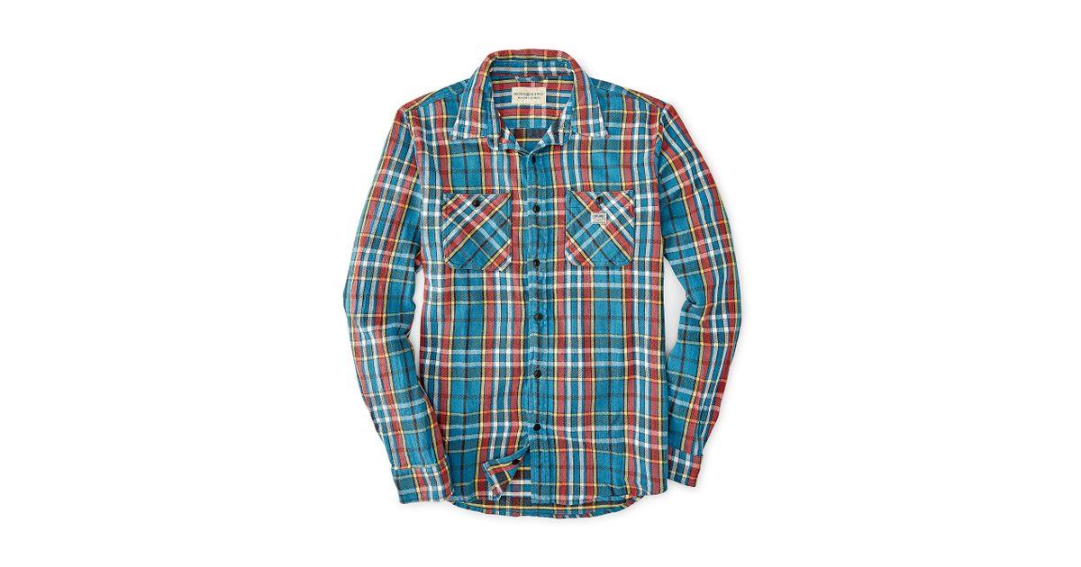 69b19ed4f Denim   Supply Ralph Lauren Ward Plaid Cotton Twill Shirt in Blue for Men -  Lyst