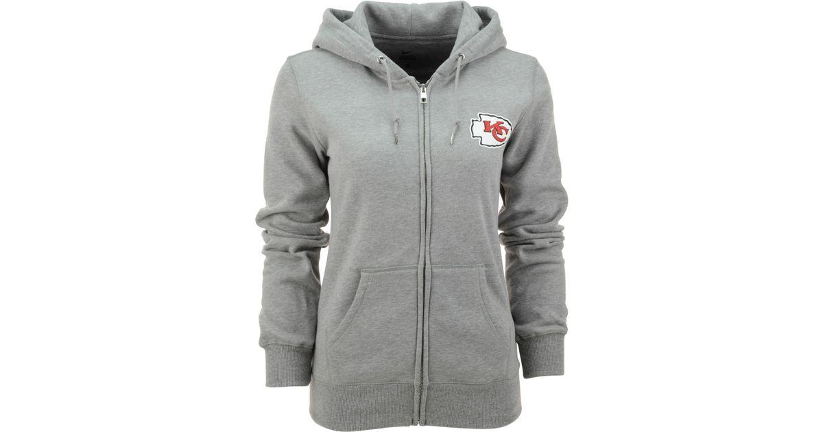 7cbba80f Nike Gray Women'S Kansas City Chiefs Full-Zip Hoodie