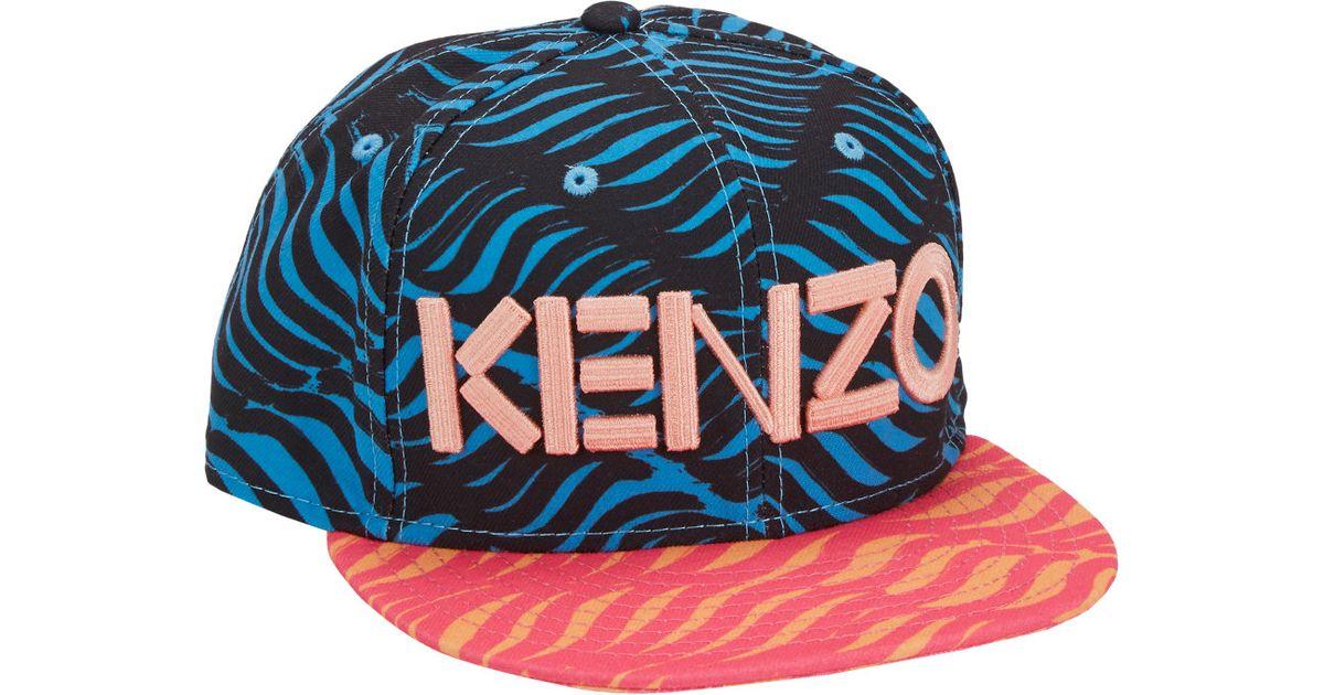 0e519988396 KENZO New Era Wavy Lineprint Fitted Baseball Cap in Blue - Lyst
