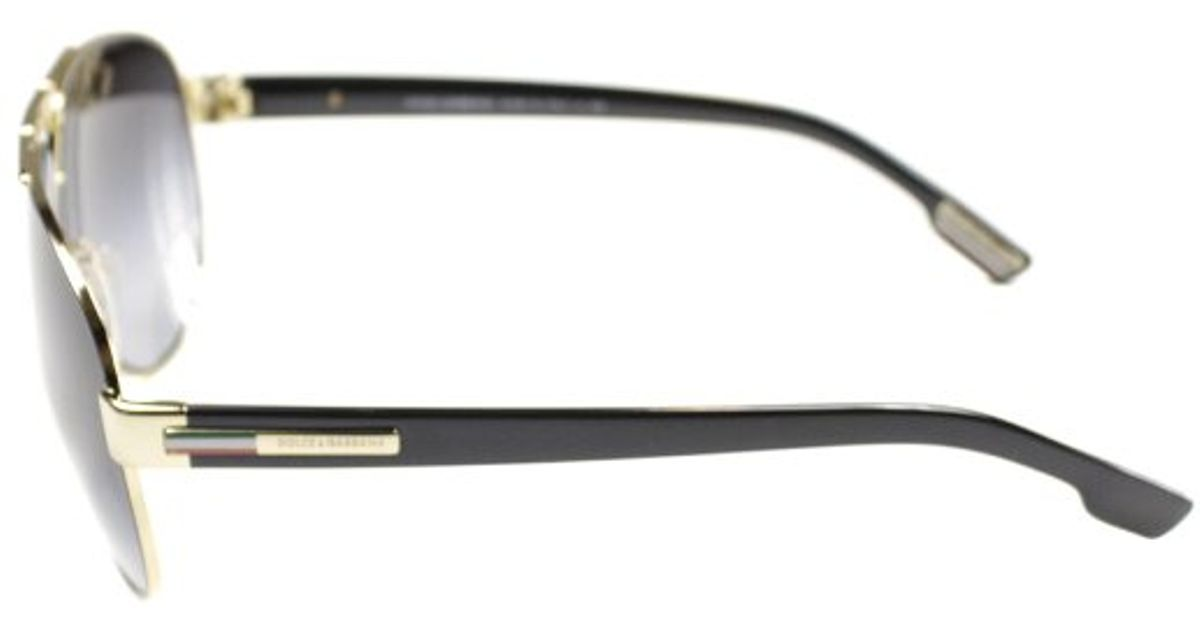 18a3c85ae4 Lyst - Dolce   Gabbana Dolce And Gabbana Dg 2099 10818g Gold Black Aviator  Metal Sunglasses in Metallic
