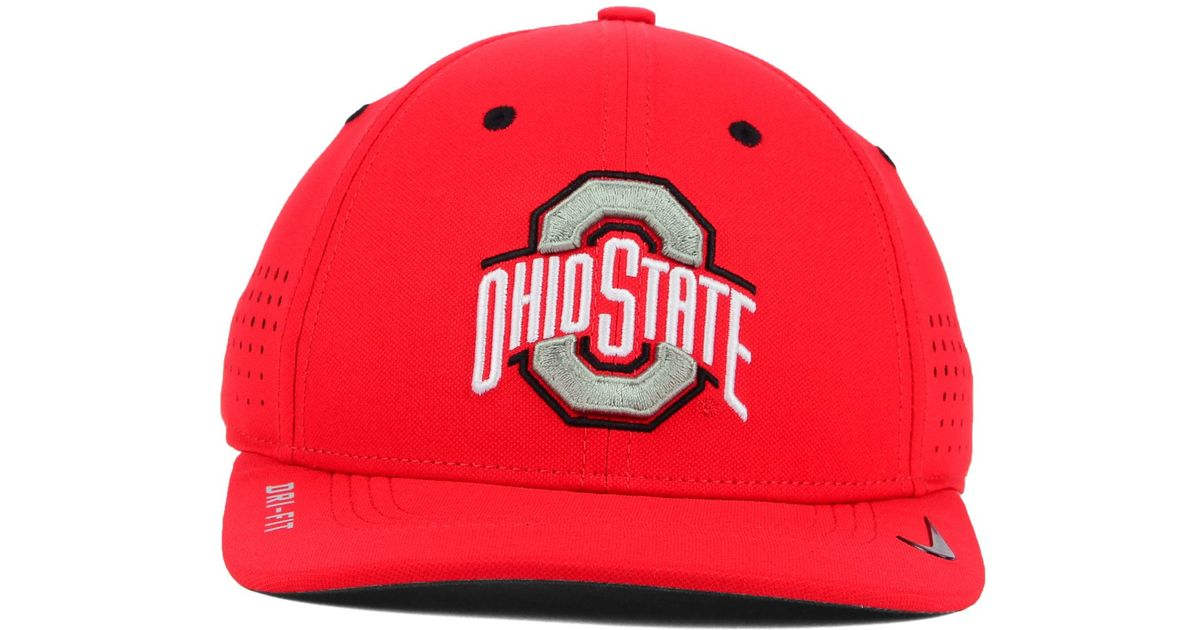 2c1913e3438 ... italy lyst nike ohio state buckeyes sideline cap in red for men 69b60  f6cce