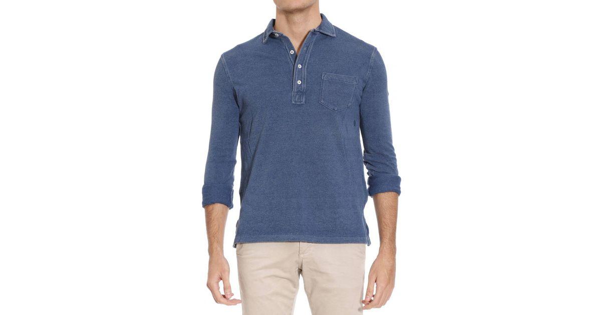 polo ralph lauren t shirt in blue for men indigo lyst. Black Bedroom Furniture Sets. Home Design Ideas