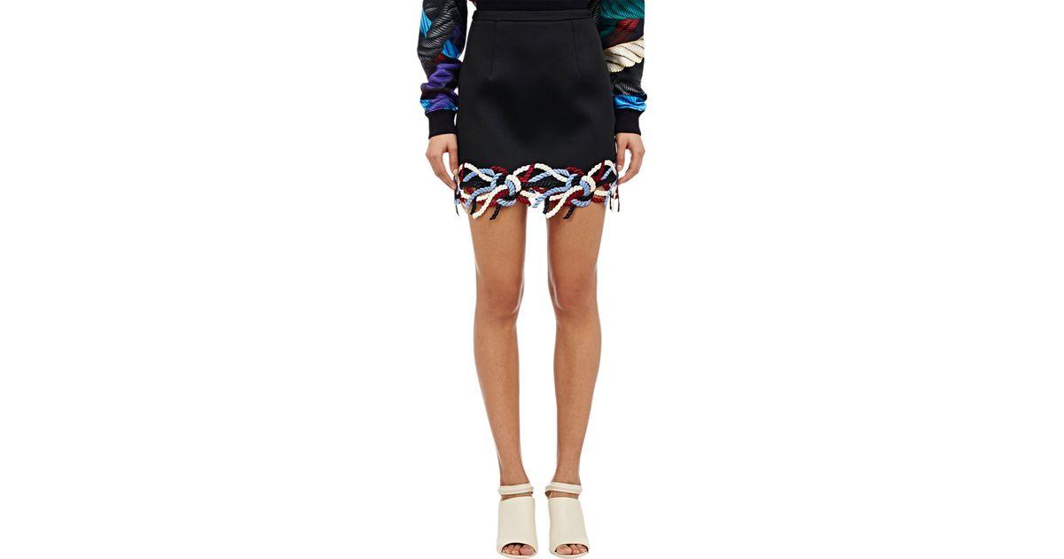 Lyst christopher kane rope applique mini skirt in black