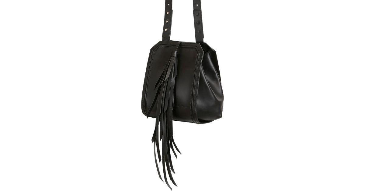 In Lamanna Tassel W Lyst Black Manu Maria Shoulder Bag Leather Miss ZFw5zAq