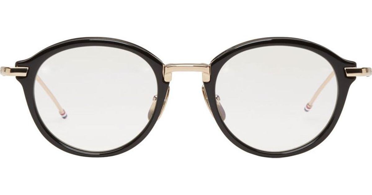 67044499d0b6 Lyst - Thom Browne Black Round Tb 011 Optical Glasses in Black for Men