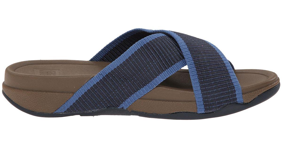 1591f5126 Lyst - Fitflop Surfer Slide in Blue for Men