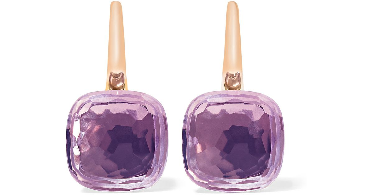 rose accent amethyst drop silver multicolor shop s de and stella sterling womens grace women heart kohl earrings diamond best from kohls france
