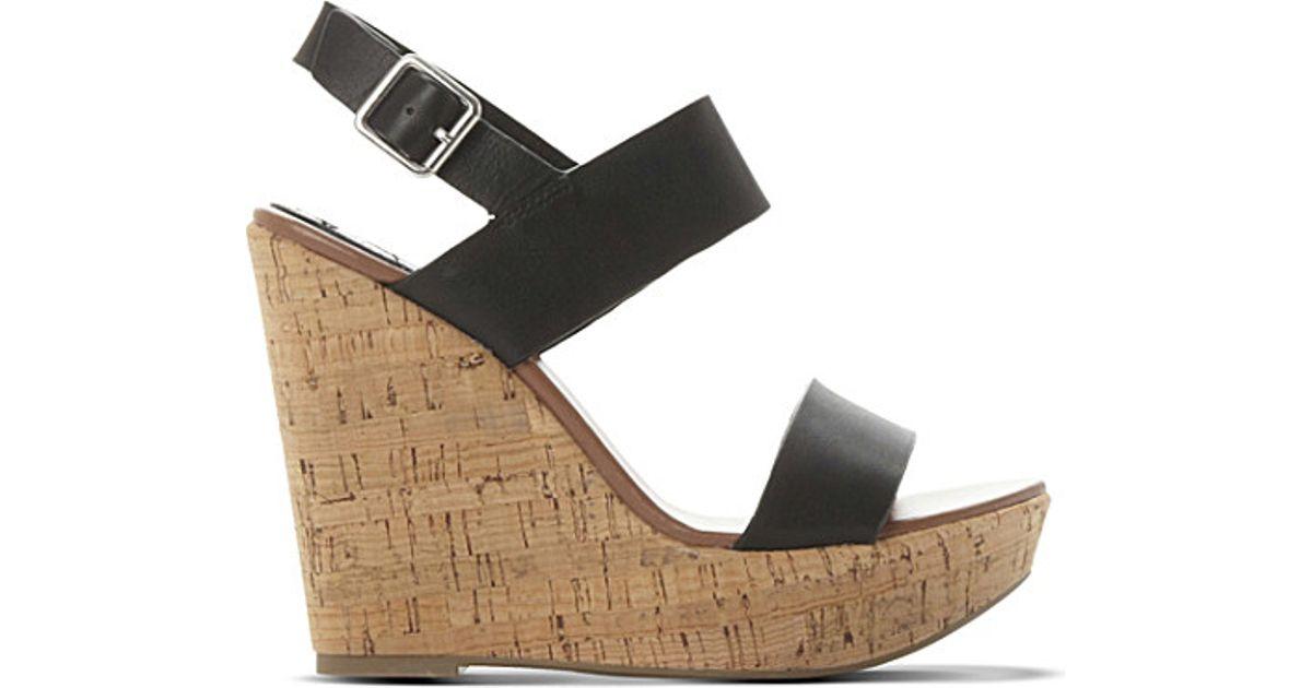 b2b450667b4 Lyst - Steve Madden Esme Leather Wedge Sandals