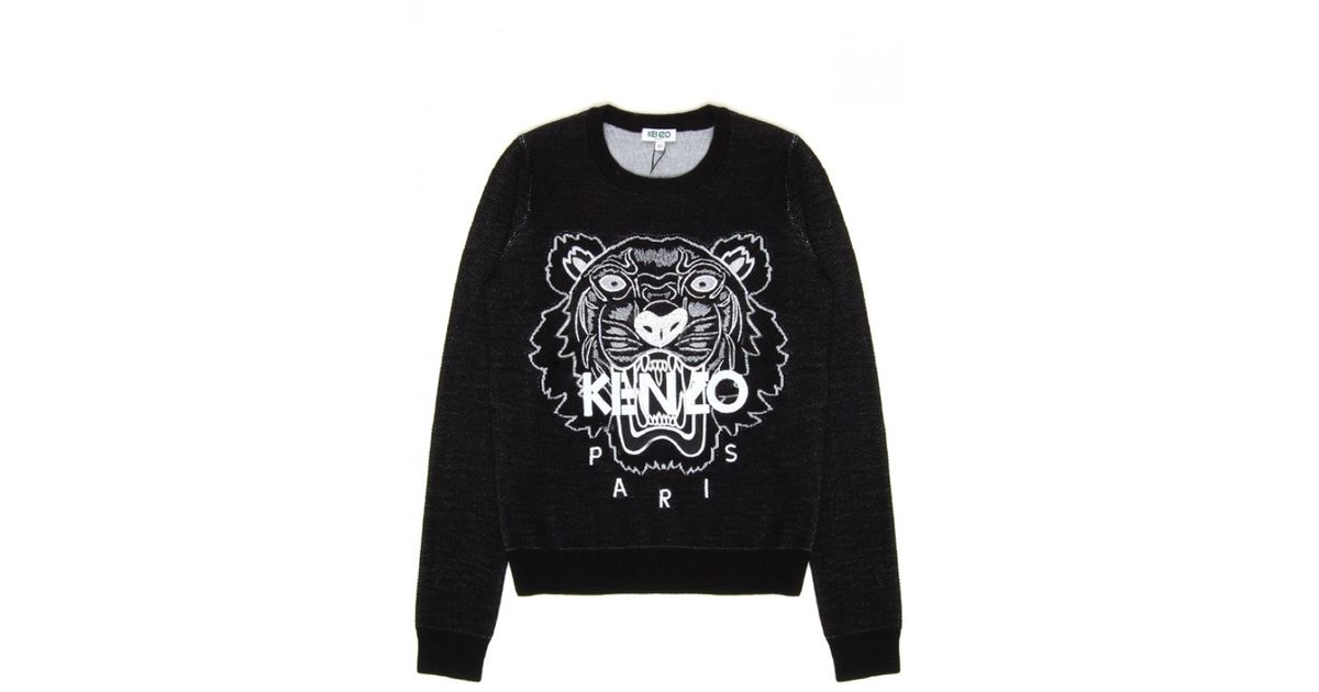 0e797f75 KENZO Black Tiger Sweatshirt in Black - Lyst