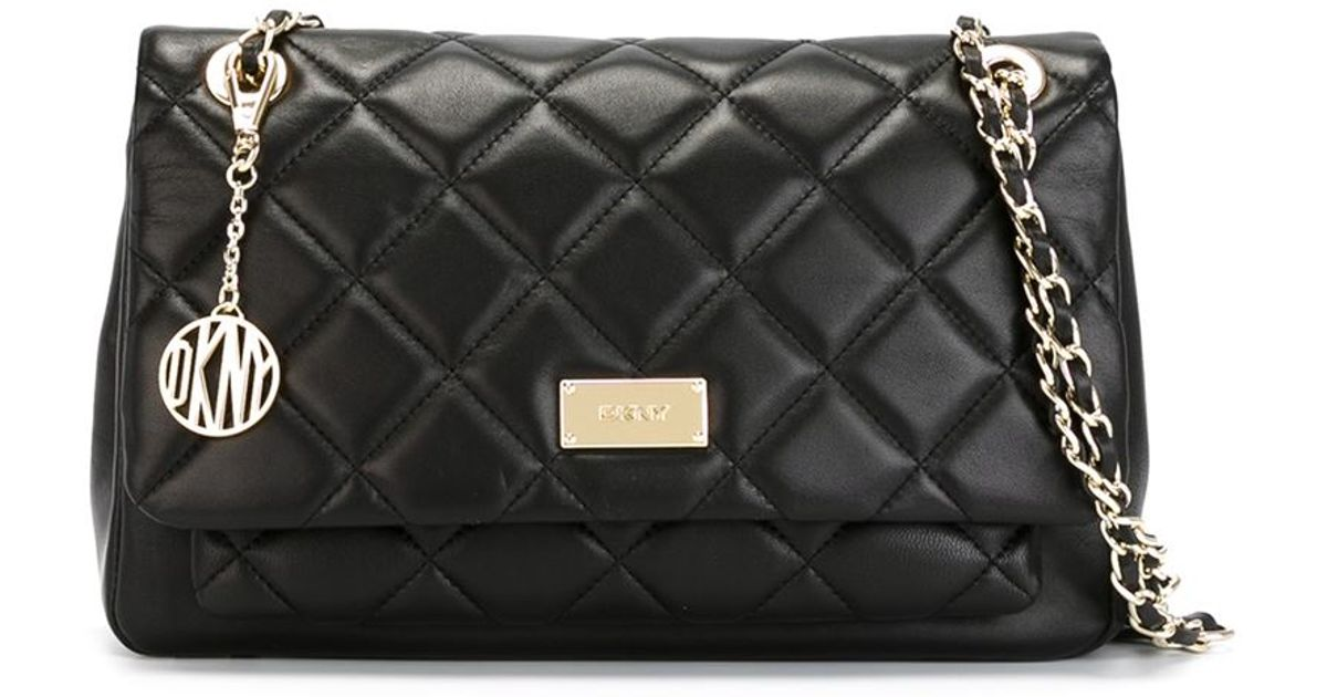 Lyst - DKNY Quilted Crossbody Bag in Black