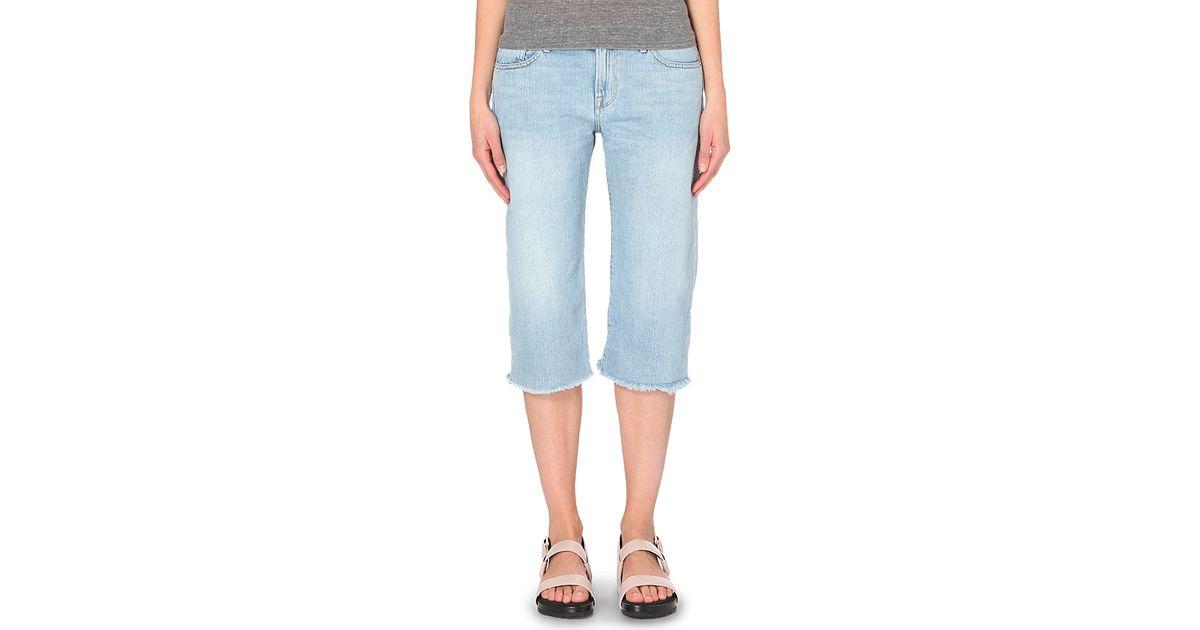 0f796cf33b FRAME Le Vintage Bermuda Denim Shorts in Blue - Lyst