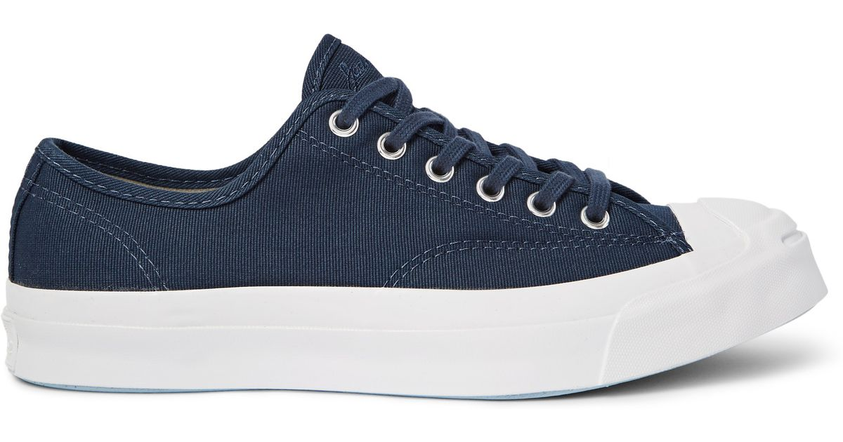 d29f1734dd07 Converse Jack Purcell Signature Jungle Cloth Canvas Sneakers in Blue for  Men - Lyst