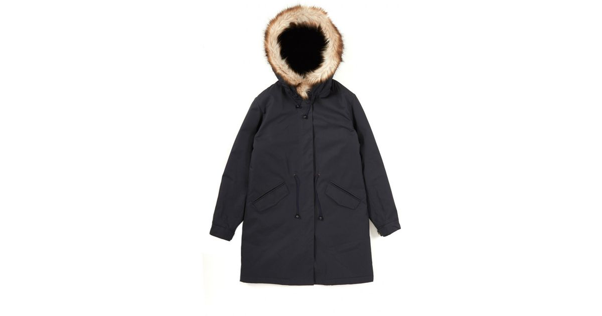A.p.c. New Parka Mod in Blue | Lyst