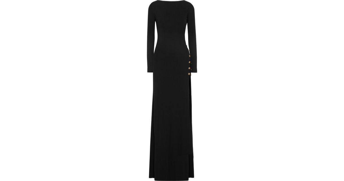 Lyst - Emilio Pucci Chainembellished Backless Crepe Gown in Black