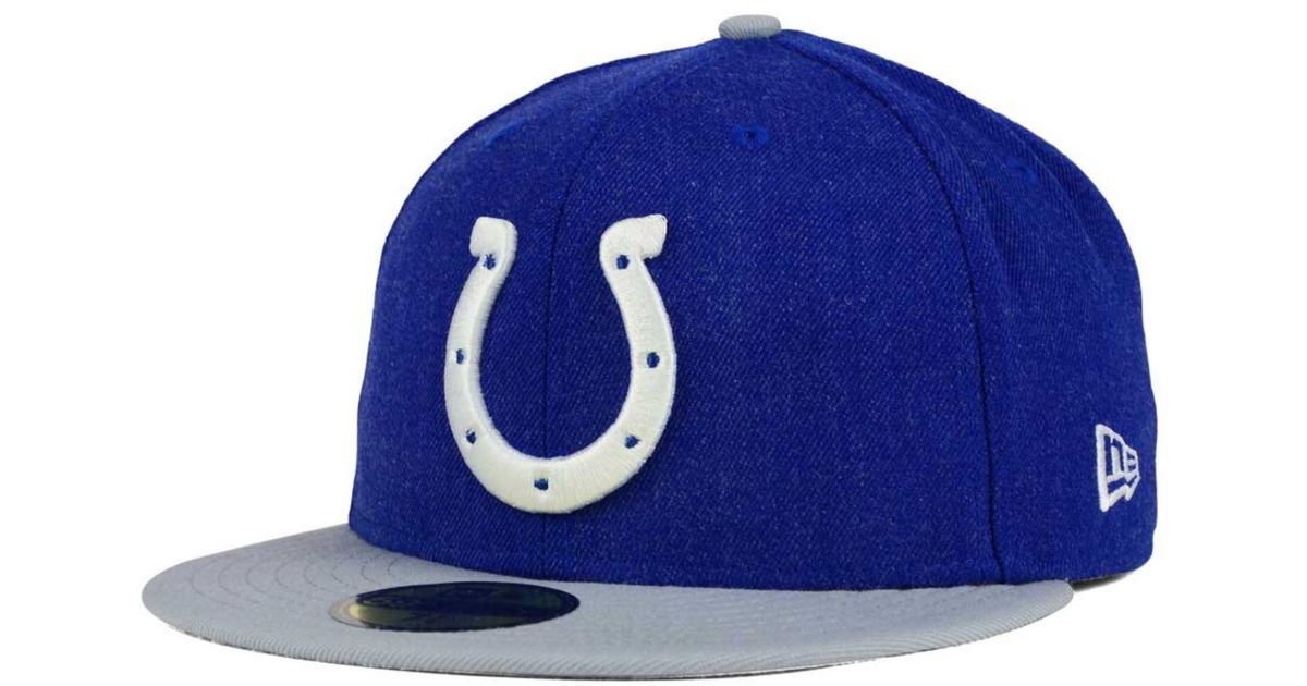 separation shoes 2a5e1 039ae Lyst - Ktz Indianapolis Colts Heather Action 2-tone 59fifty Cap in Blue for  Men