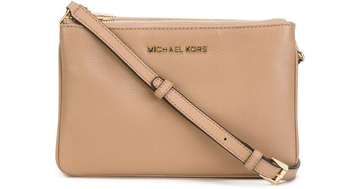 1e000007d44 MICHAEL Michael Kors 'bedford' Crossbody Bag in Natural - Lyst