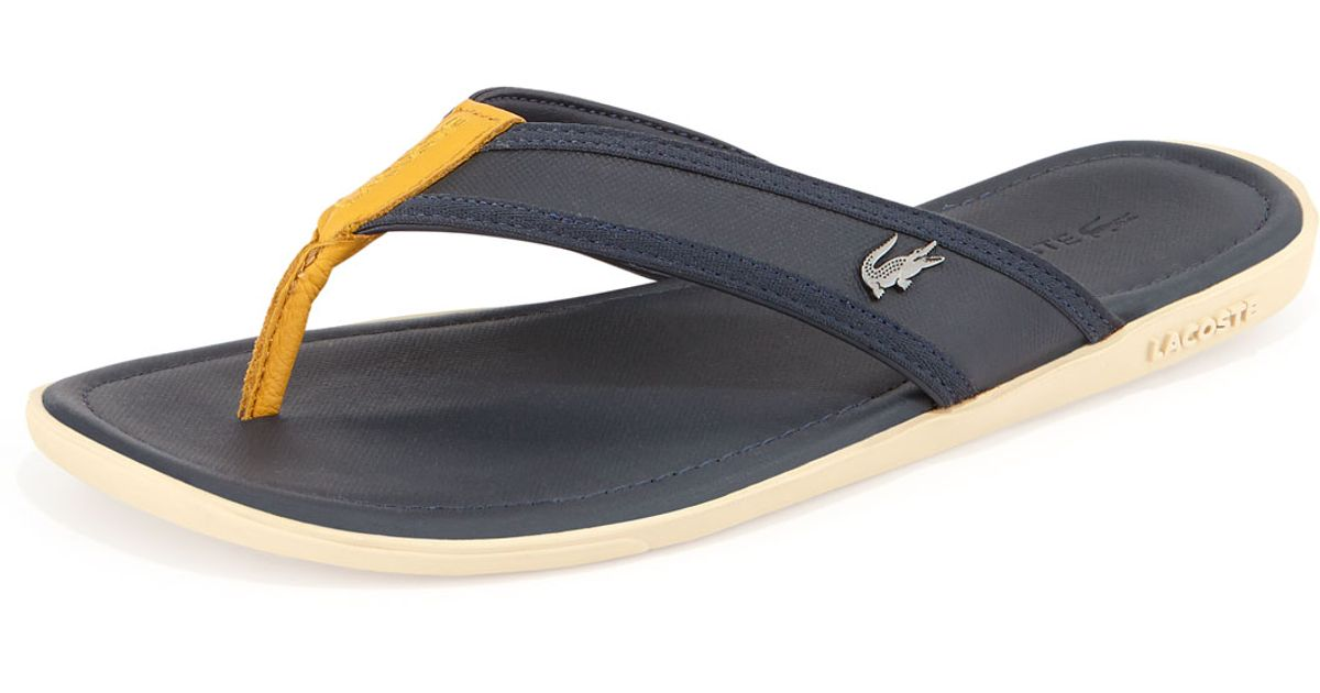 de442955c08b Lacoste Carros Mens Thong Sandal in Yellow for Men - Lyst