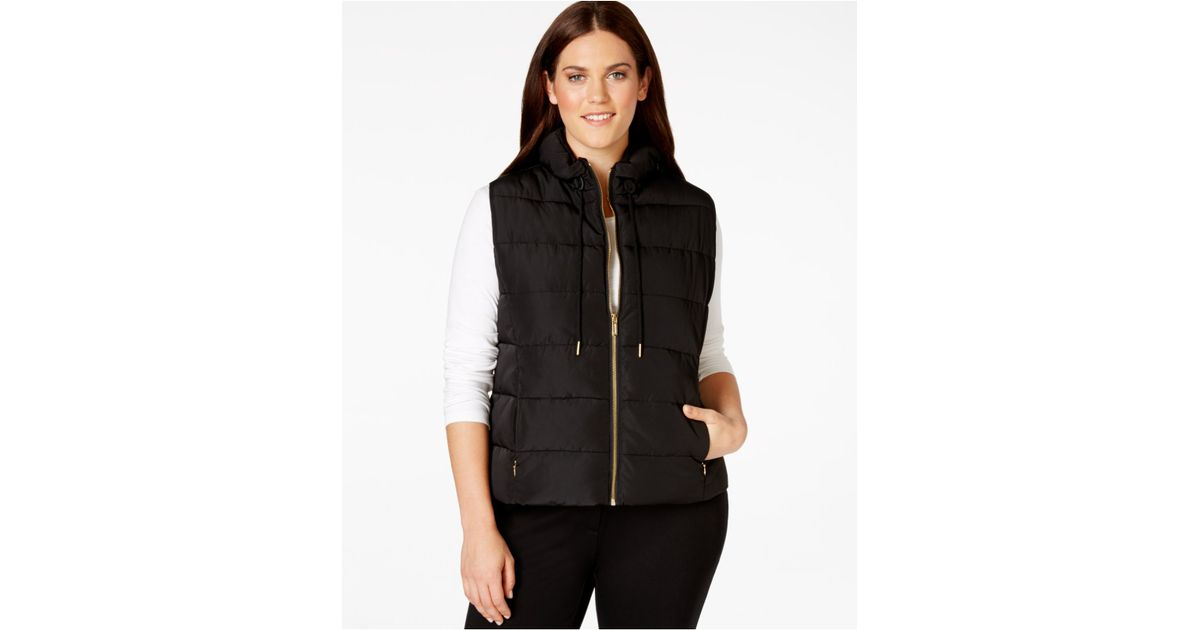 9cf6cba89db Lyst - Calvin Klein Plus Size Zip-pocket Puffer Vest in Black