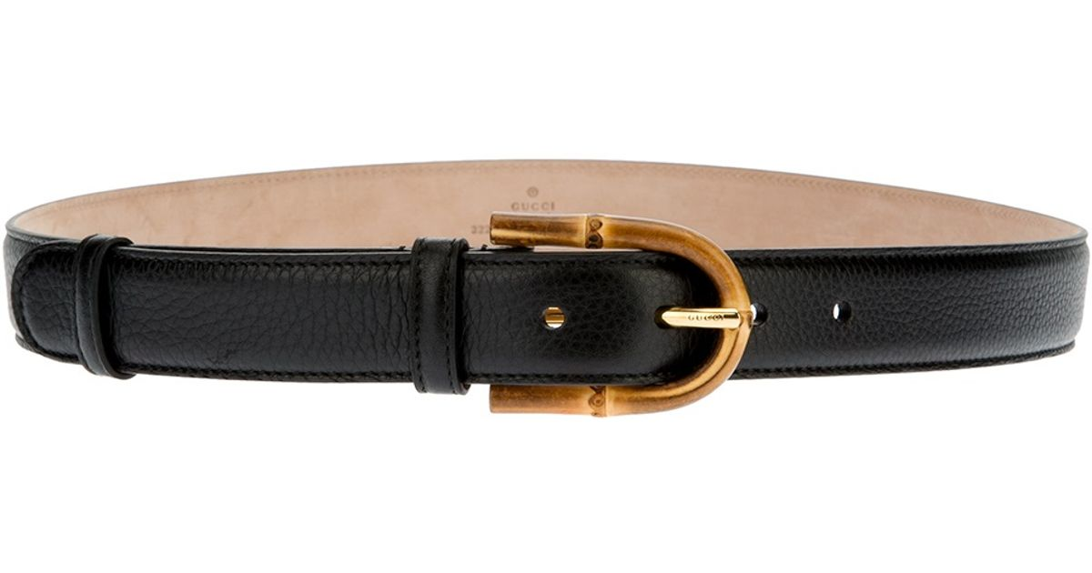ad045bd78 Gucci Bamboo Buckle Belt in Black - Lyst